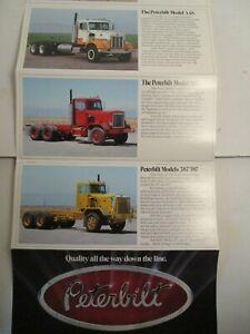 Peterbilt Brochure Paccar Garage Trucks Dealer Brochure Garage Diesel Trucker
