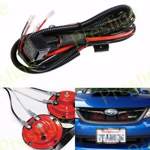 12V Horn Wiring Harness Relay Kit Car Grille Mount Blast Tone Horns for SUBARU