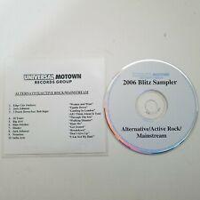 2006 Blitz Sampler Universal Motown Records Alternative Active Rock Mainstream