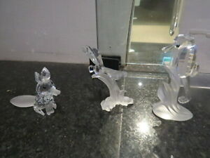 Swarovski Crystal Seahorse Fox Dragonfly Figurine