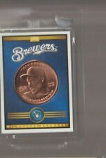 2019 Baseball Treasure Copper Coin - Travis Shaw - Milwaukee Brewers