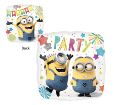 """Despicable Me Minion Foil Balloon Birthday Party Decorations Supplies 17"""" Square"""