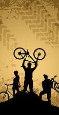 Off Road Mountain Biking Themed Cornhole Board Prints / Wraps / Corn Hole