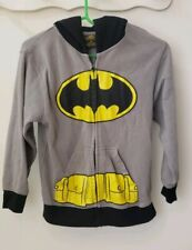Boys Batman Hoodie Sweatshirt With Bat Ears Medium Med M Gray