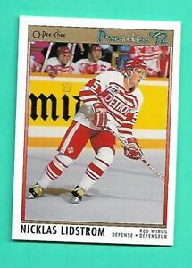 (1) NICKLAS LIDSTROM 1991-92 PREMIER # 117 WINGS ROOKIE NM-MT CARD (V3592)
