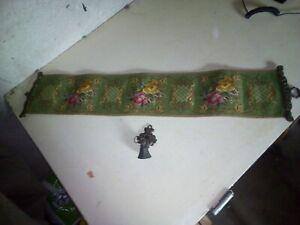alter Klingelzug mit Glocke,Gobelin,Wandbehang,Wanddekoration