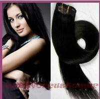 "100% Real Remy Clip In Full Head Human Hair Extensions 15""18""20""22""24""26''28''"