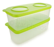 Tupperware Rectangle 6.5-Cup Fresh n Cool Refrigerator Container 2-piece Set NEW
