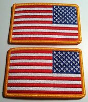 2 UNITED STATES Flag Left Tactical Military Patch W/ VELCRO® Brand Fastener #2