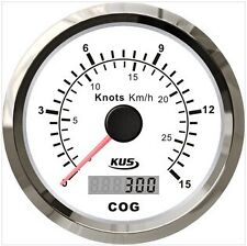 85mm White GPS speedometer 0-15knots for marine boat CMSB-WS-15L(SV-KY08108)
