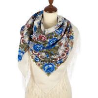 Foulard Russe Châle Russe en laine - Matin de printemps - Fabrication Artisanale