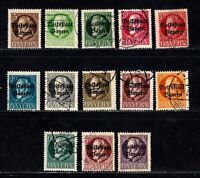 Bavaria stamps #136 - 149, mint & used, missing some, 1919, SCV $24.25