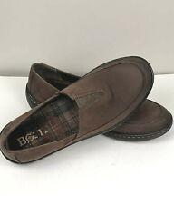 Born Lex Womens Sz 9M Flat Slip on Shoes Nubuck Leather Brown Cocoa F49523