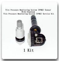 1 Kit Tire Pressure TPMS Sensor + Aluminum Service Kit Fits Fits GM & Suzuki