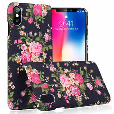 iPhone X Ultra Thin Hard Back 3D Flower Pattern Case Cover