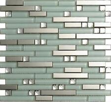metal glass mosaic tile kitchen backsplash bathroom shower background home decro