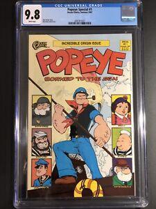 Popeye Born To The Sea #1 CGC 9.8 WP Ocean Comics (1 Of 9-9.8's) Highest Grade
