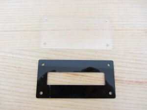 Bezel and Clear Backplate for 16x2 LCD Character Display  No precise cut needs