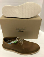 Mens Clarks Forge Vibe Brown Tan Nubuck Leather Comfort Casual Dress Shoes 12