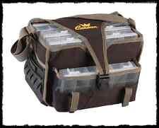borsa con scatole in plastica porta artificiali pesca spinning cucchiaini minnow
