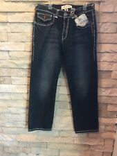 Rare Laguna Beach Men's Jeans Hand Stitches Hand Made Swarosky Cristals
