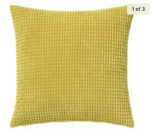 "2 IKEA GULLKLOCKA GOLDEN Mustard YELLOW CUSHION COVER 20 X 20"" CHENILLE Zips"