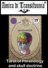 Tarocchi rari+libro+piani Phrenology mental phenomena brain skull frenologia kit