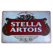 Metal Tin Sign stella artois Decor Bar Pub Home Vintage Retro Poster Cafe ART