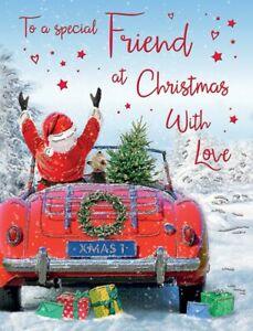 Cute Christmas Card - To A Special Friend - Foil Xmas Premium Quality