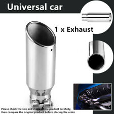 """2.5"""" Inlet 3 """" Car Stainless Steel Tail Throat Pipe Exhaust Muffler Silver Parts"""