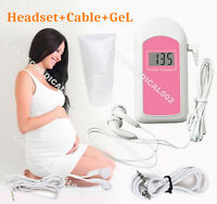 FDA LCD Pocket Prenatal Fetal Doppler, Baby Heart beat Monitor+GEL,US seller