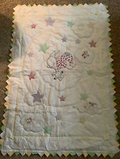 New listing 60� X 40� Embroidered Bunny Baby Quilt W/Points Hand/ Machine Stitched