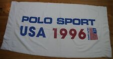 Rare Vintage RALPH LAUREN POLO USA Spell Out 1996 96 Flag Beach Bath Towel 90s