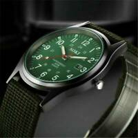 NEW Military Army Mens Sport Canvas Belt Luminous Quartz Wrist Watch