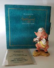 "Walt Disney Three Little Pigs ""I Toot My Flute "" Fifer Pig Figurine"