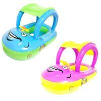 Inflatable Baby Swimming Float Car Ring Seat Sunshade Water Raft Fun Pool Toys