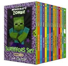 NEW Diary of a Minecraft Zombie Survivors Collection 14 Books Box Set Kids Gift!