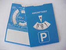 Parkscheibe Parkuhr mit Benzinrechner Rückseite neutral ohne Werbung