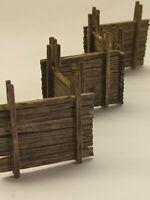 5x Palisaden Schützengraben Pro built Holz Modell f. Diorama gebaut Graben 1:35