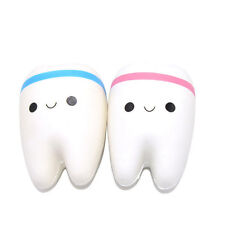 11cm Lovely Tooth Jumbo Squishy Slow Rising Phone Straps for Phone/Mp3/Bag Toys