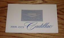 1959 Cadillac Owners Operators Manual 59