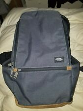 Jack Spade New York Gray Backpack Bag Brown Leather Computer Sleeve
