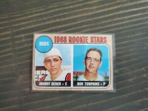 1968 Topps #247 Reds Rookie Stars Johnny Bench RC HOF Some minor wear.Great Card