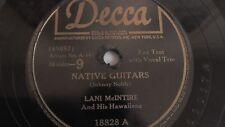 Lani McIntire -  78rpm single 10-inch - Decca #18828 Native Guitars