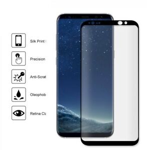 Genuine Tempered Glass LCD Screen Protector  Samsung Galaxy S8 BLACK - S8