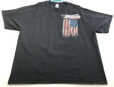 Black Diamond Classics Race Car Men Graphic T Shirt Xxl 2Xl Black American Flag