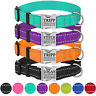 Reflective Dog Collar Personalised Adjustable Safety Nylon Collars for Dogs S L