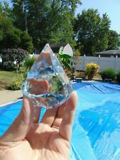 Tiffany & Co Crystal Diamond Shape Paperweight Signed