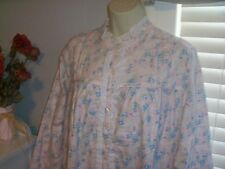 NWT S Lanz of Salzburg Nightgown Gown POCKETS New Pink Roses Ruffle Small