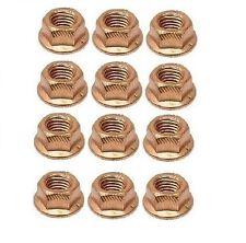 For BMW E10 E21 E23 E24 E28 E30 Set of 12 Copper Lock Nuts 8m Exhaust Manifold